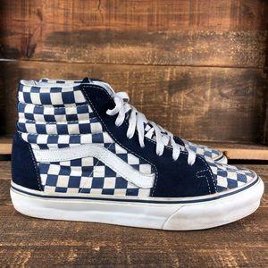 VANS Old Skool Sk8 Hi Blue Checkered Shoes Size 9
